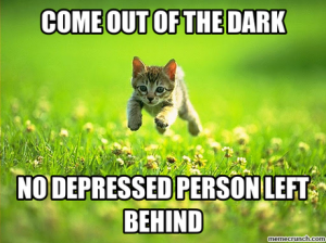 Because you can't be depressed with a bounding kitten! (Well you can, and that's okay.)