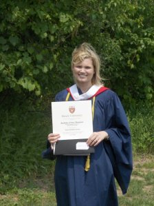 Me at my BA convocation...ignore the wind!