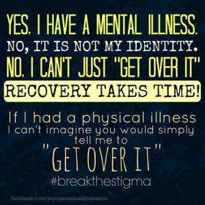 Mental healthy recovery is a long journey.