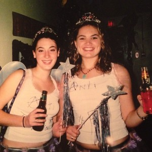 Me & my friend E. during Halloween at Bishop's University -- beers in hand.